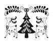 Zīmogs Aladine egle un ziemeļbrieži 5.2x7.2cm
