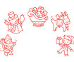 Stamp Aladine Stampo Baby 5pcs Christmas + ink pad red