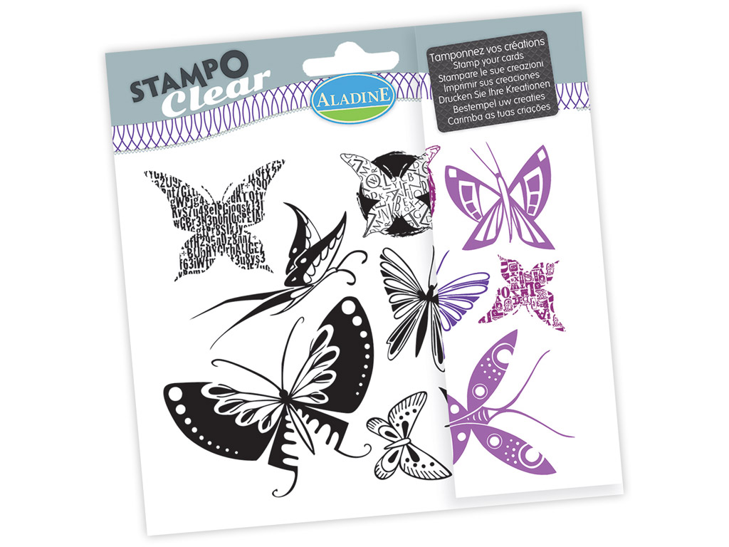 Tempel silikoonist Aladine Stampo Clear 9tk Butterfly blistril