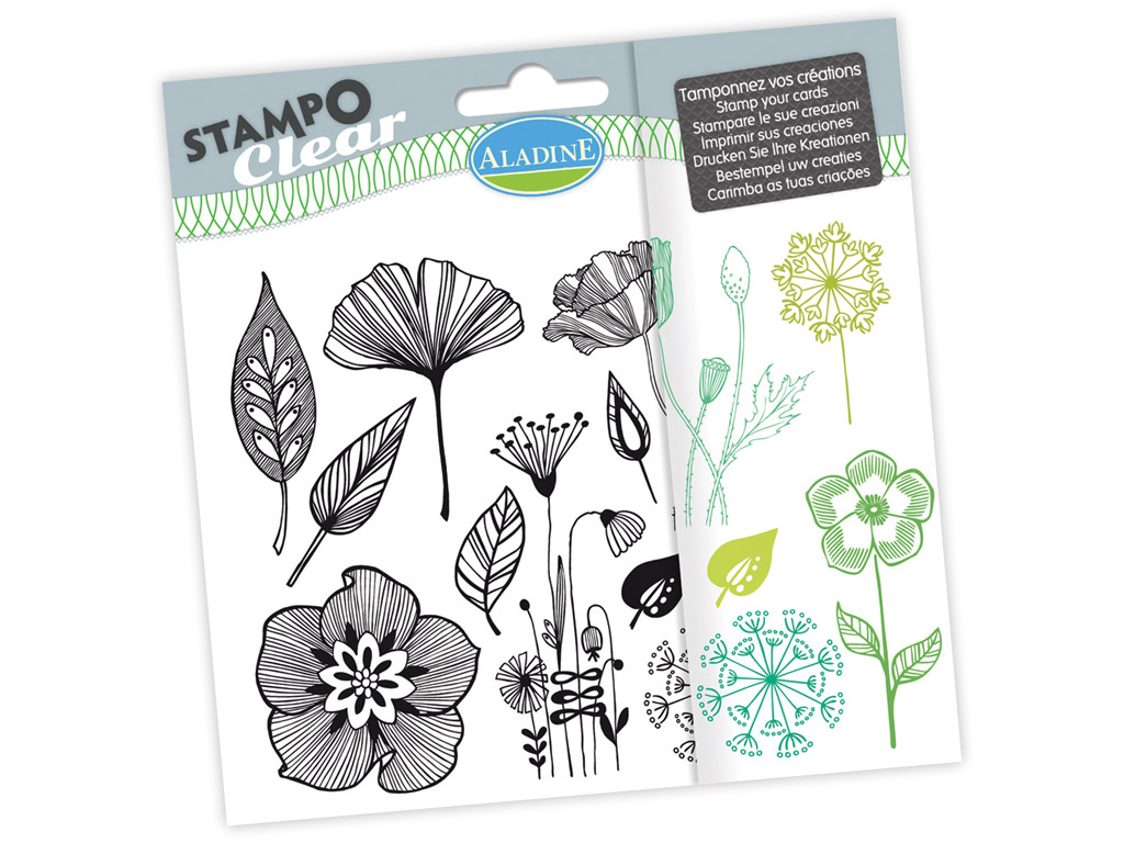 Tempel silikoonist Aladine Stampo Clear 12tk Flowers blistril