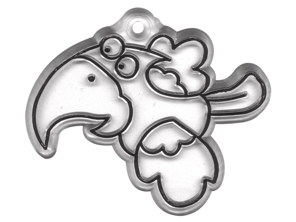 Dekooralus Rayher läbipaistev riputatav lind 6x5cm