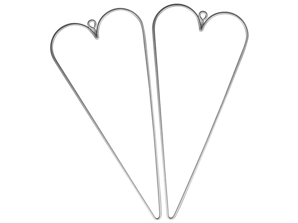 Širdelė iš vielos Rayher 16x7cm 2vnt.