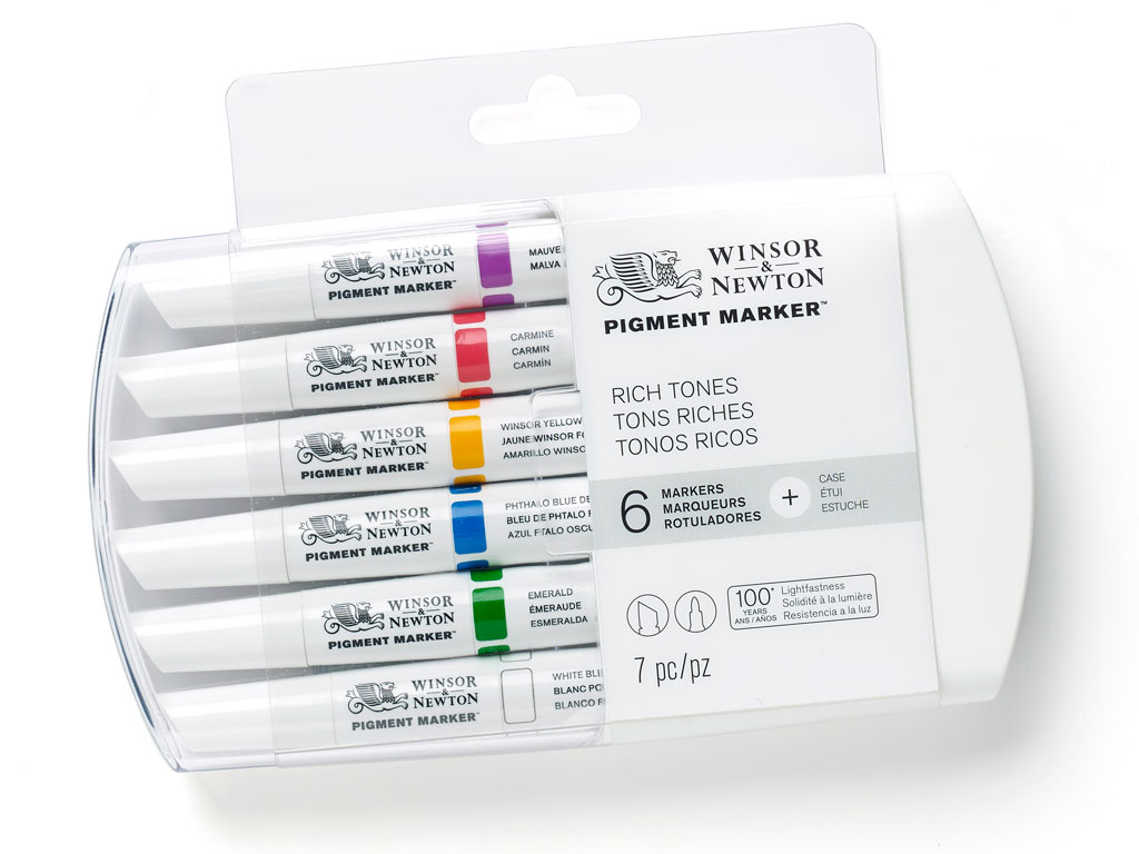 Marker W&N Pigment 6tk rich tones