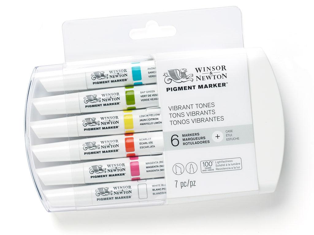 Žymeklis W&N Pigment 6vnt. vibrant tones