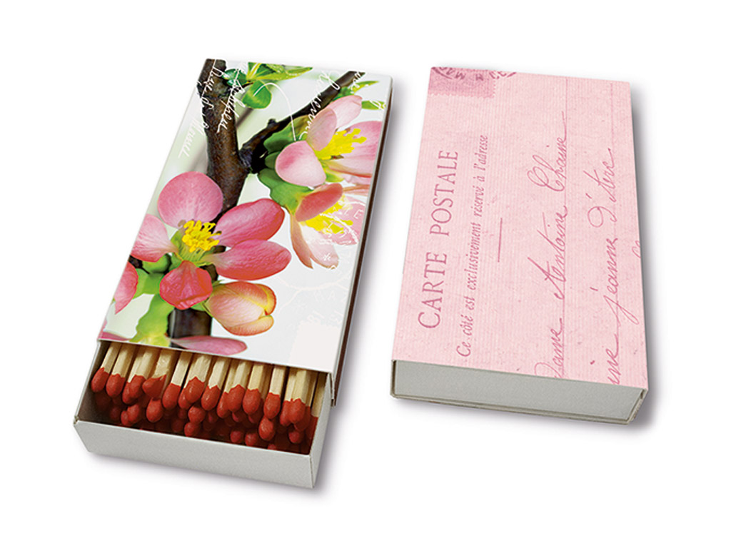 Degtukai 9.5cm 45vnt. Blossom Greetings