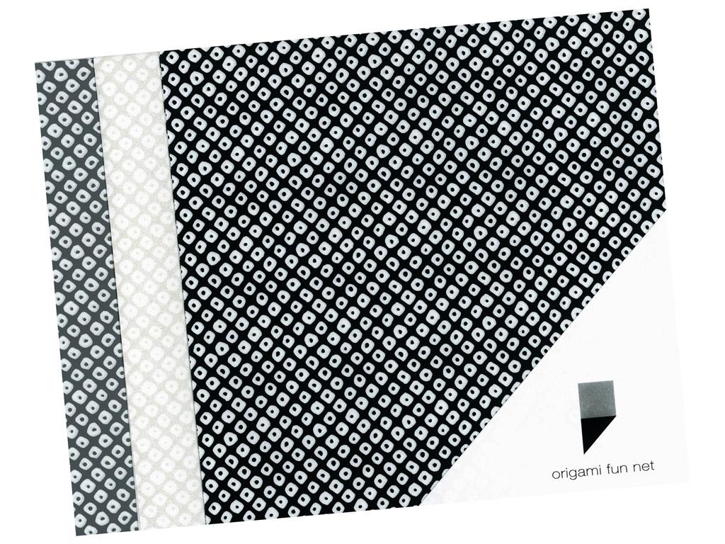 Washi papīrs Origami Fun Net 15x15cm 3x3gab. shibori