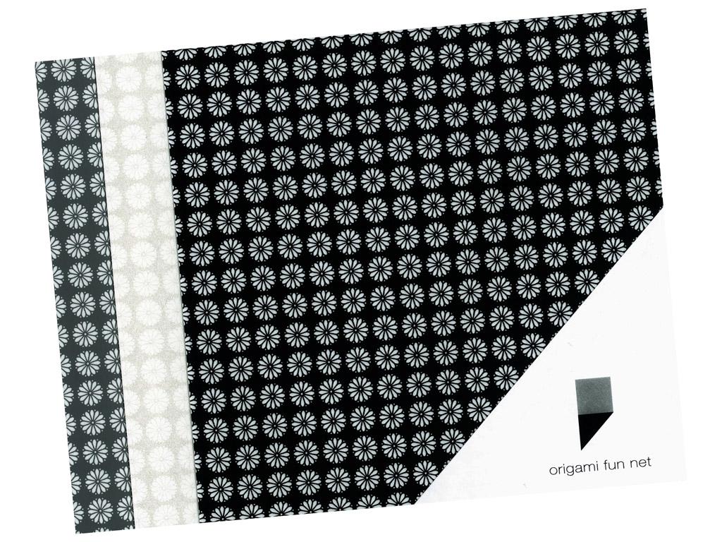 Washi papīrs Origami Fun Net 15x15cm 3x3gab. kiku koman-cheysanthemum
