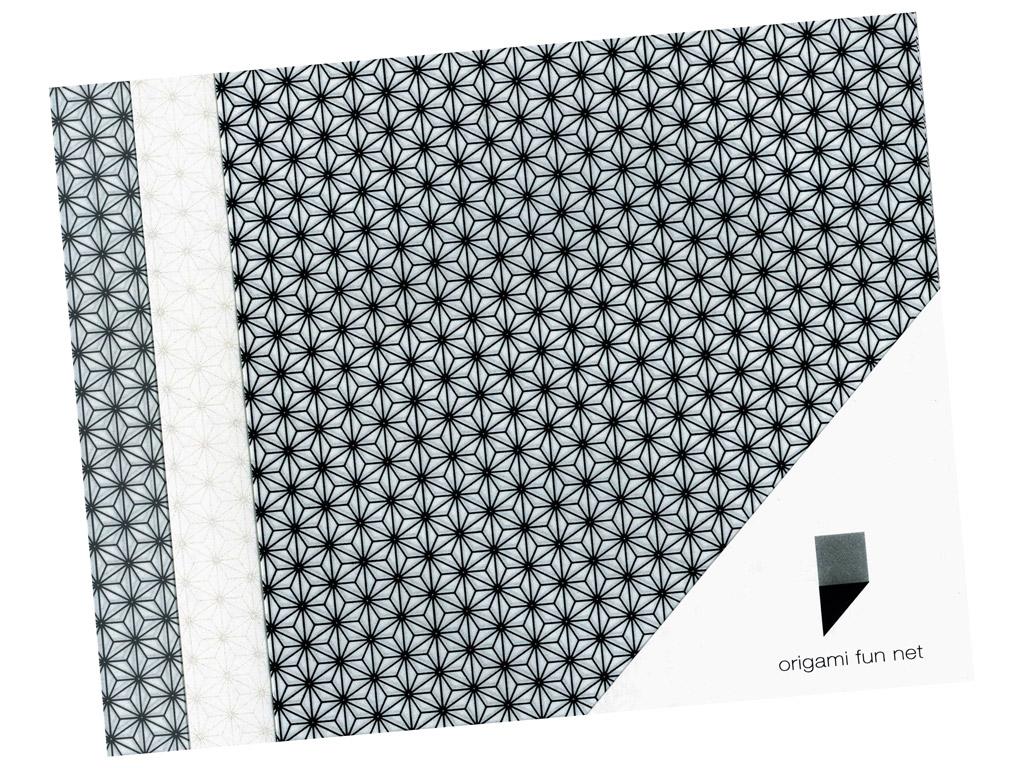 Washi papīrs Origami Fun Net 15x15cm 3x3gab. asanoha-hemp leafs