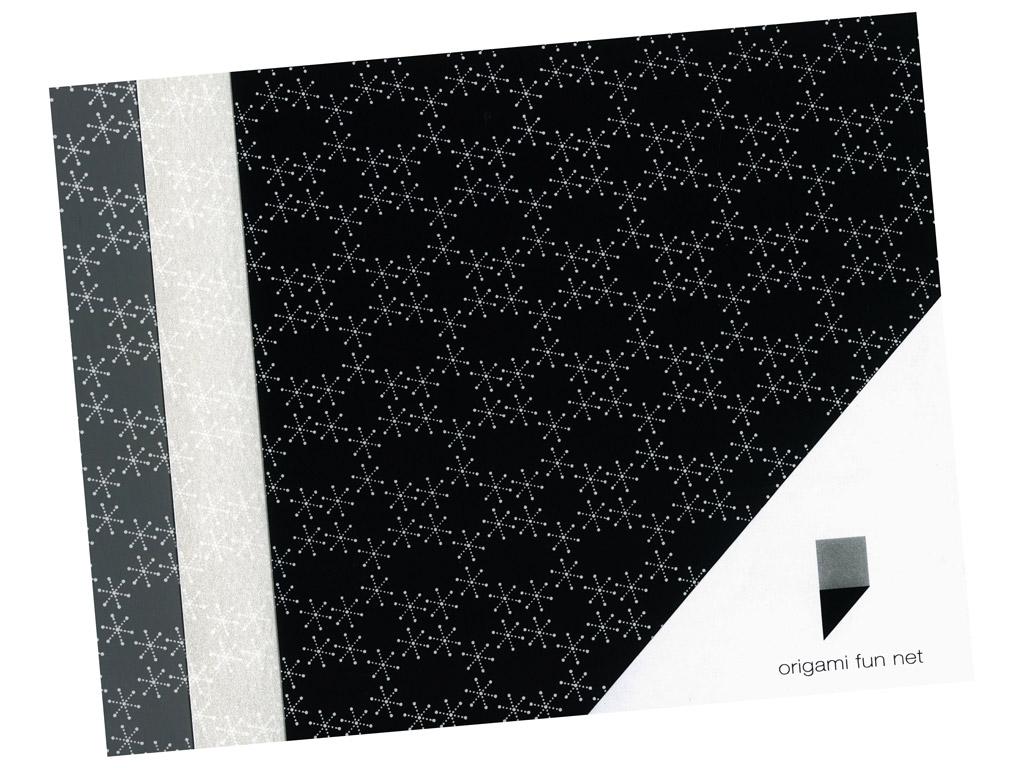 Washi papīrs Origami Fun Net 15x15cm 3x3gab. yuki guruma-snowflakes