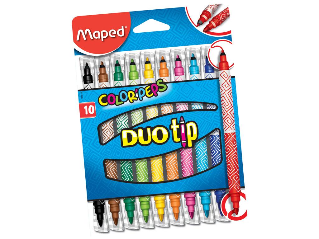 Viltpliiats ColorPeps Duo Tip 10tk pestav