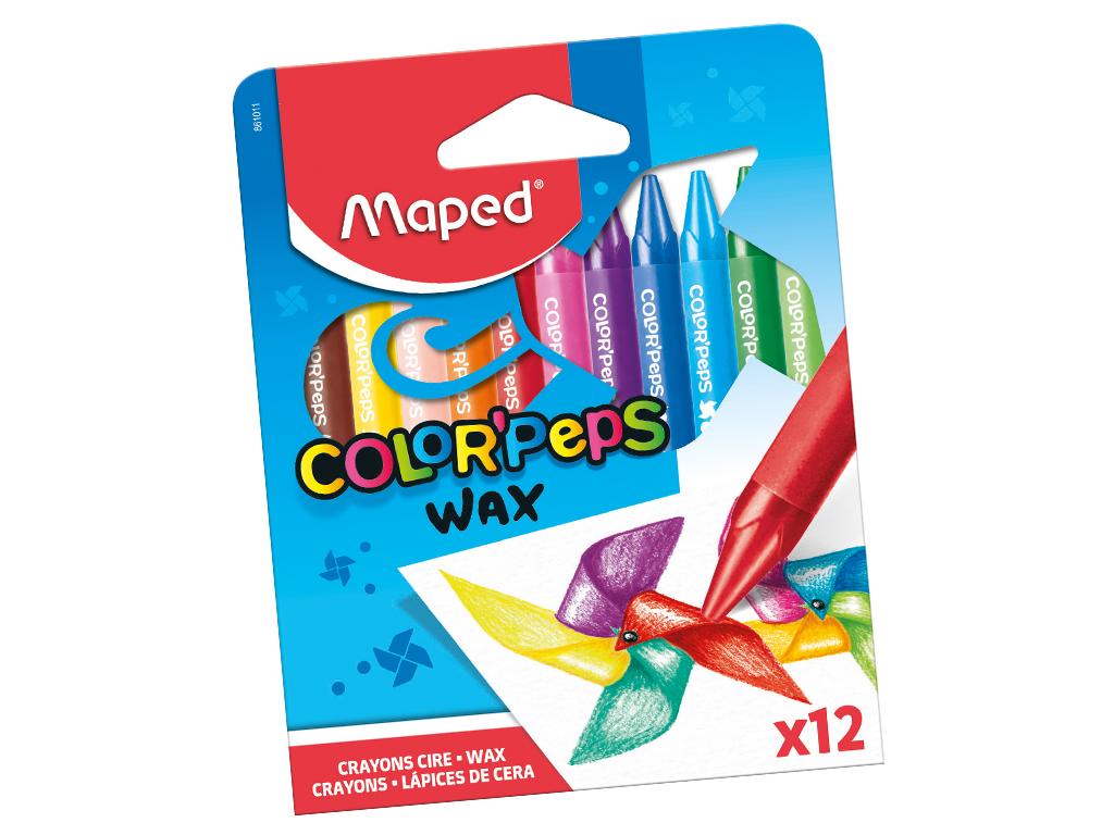Wax crayons ColorPeps 12pcs