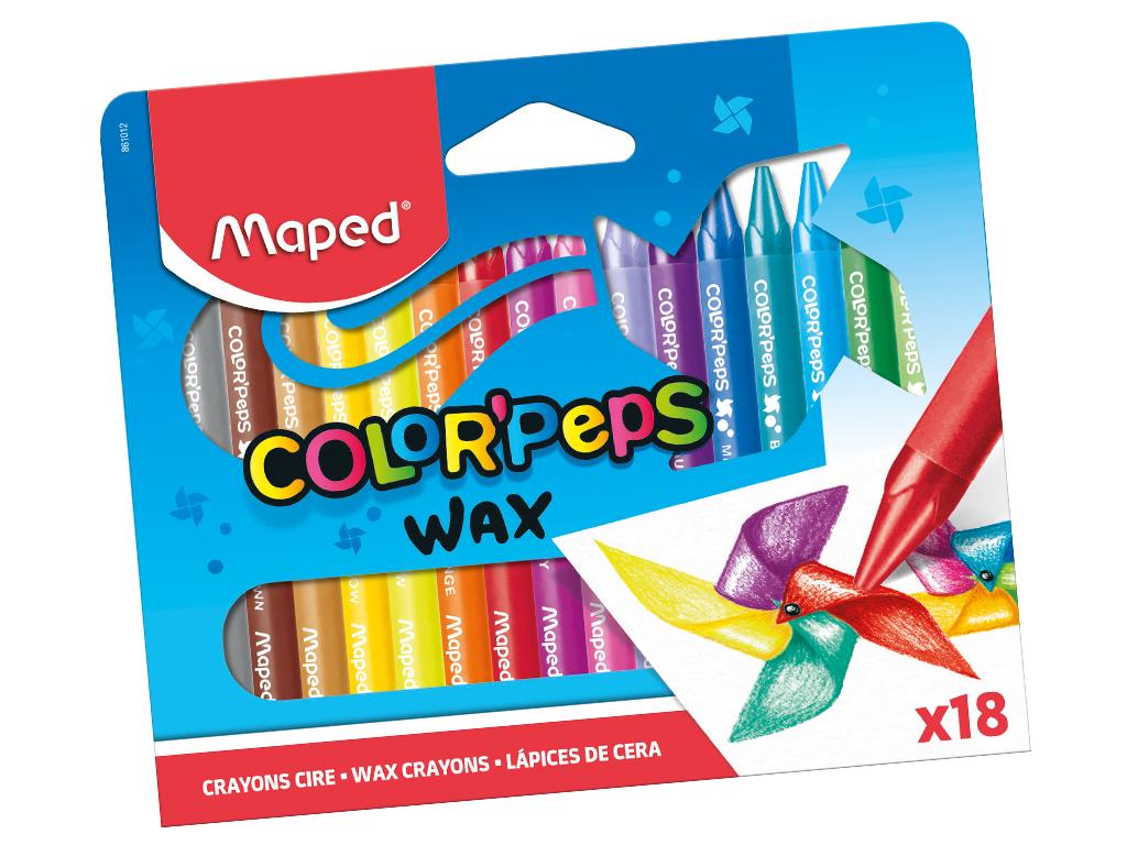 Wax crayons ColorPeps 18pcs