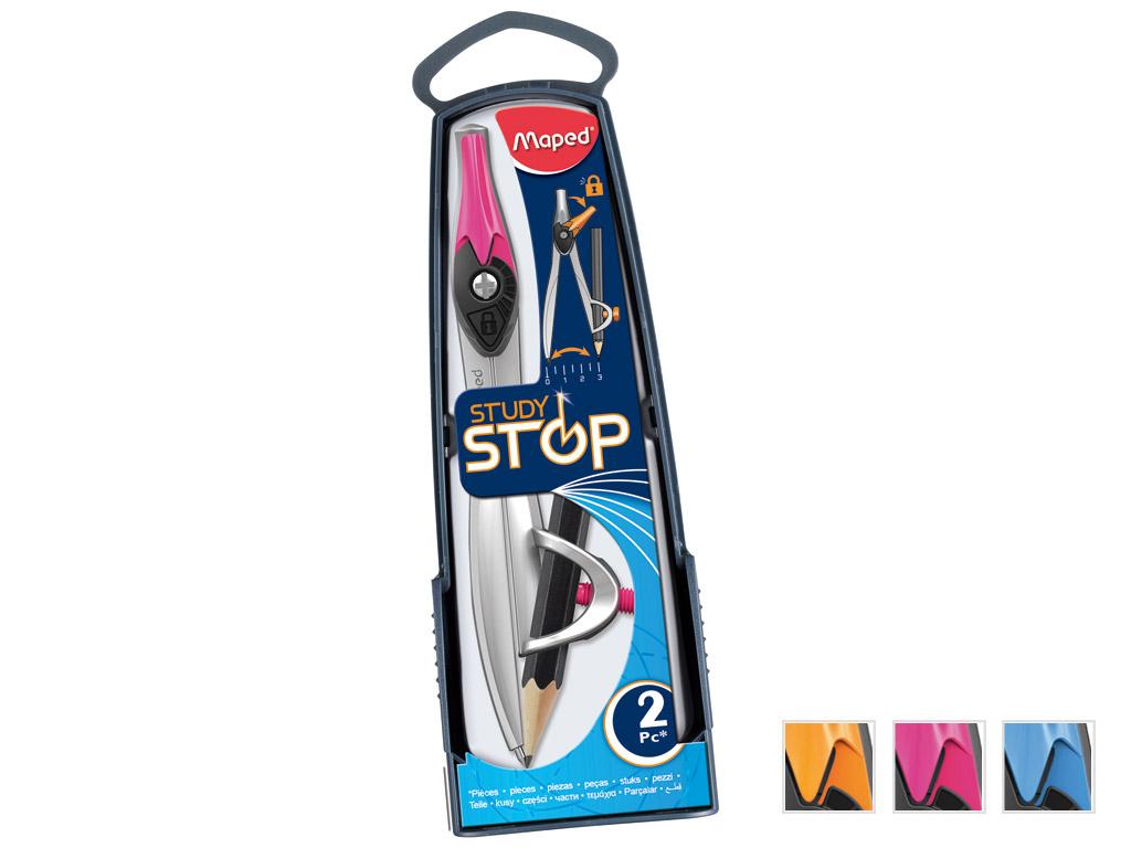 Skriestuvas dėžutėje Maped Study Stop pieštukui 2 dalys rinkinys
