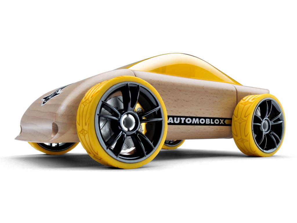 Mänguauto Automoblox Original C9 sportauto kollane