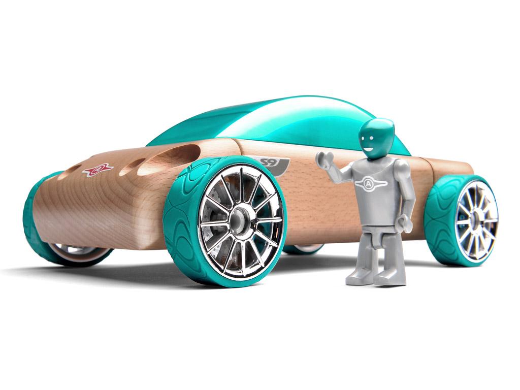 Mänguauto Automoblox Original S9 sedaan sinine/roheline