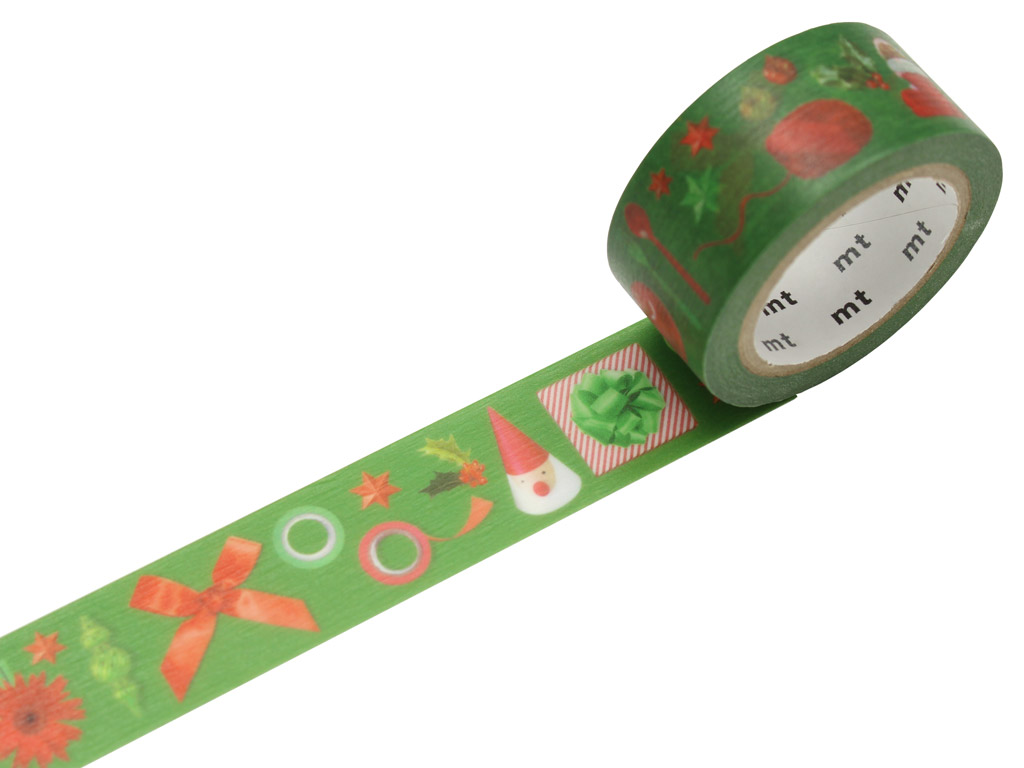 Washi līmlente mt Ziemassvētki 20mmx7m red and green
