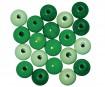 Pērlītes koka 12mm 32gab. green colours