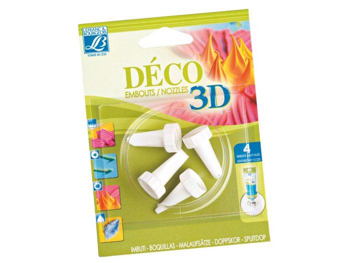 Akriliniai dažai Deco 3D tūbelės antgaliai 4vnt. - 1/2