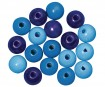 Pērlītes koka 12mm 32gab. blue colours