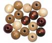Pērlītes koka 12mm 32gab. brown colours