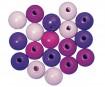 Pērlītes koka 12mm 32gab. lilac colours