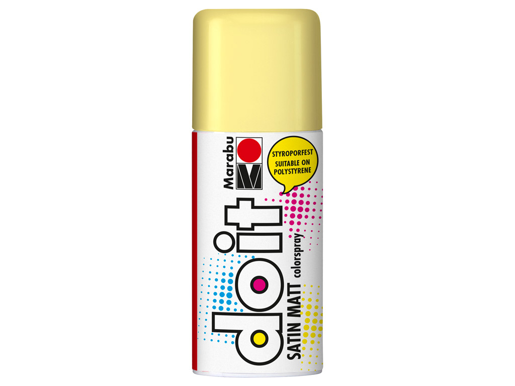 Aerosoolvärv do it Satin Matt 150ml 022 pastel yellow