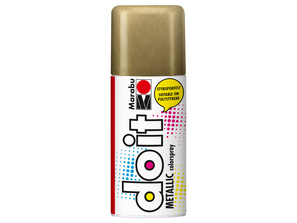 Aerozoliniai dažai do it Metallic 150ml 784 gold