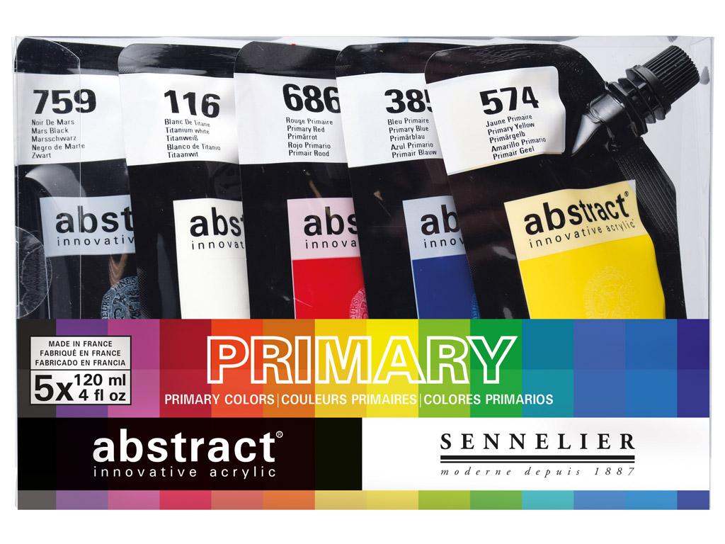 Akriliniai dažai Abstract 5x120ml Primary