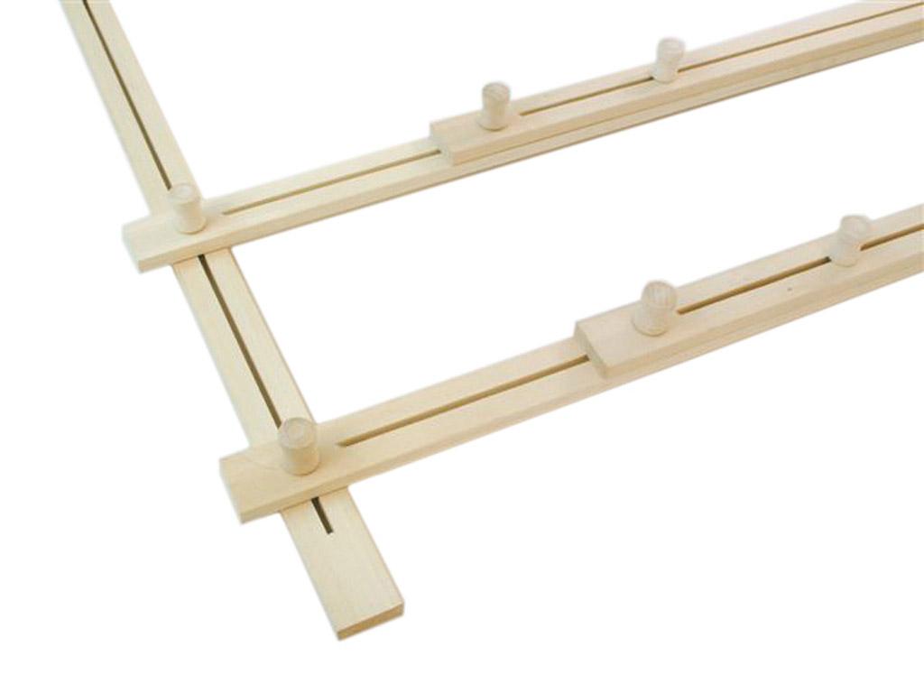Wooden silk frame H Dupont 200x60cm adjustable