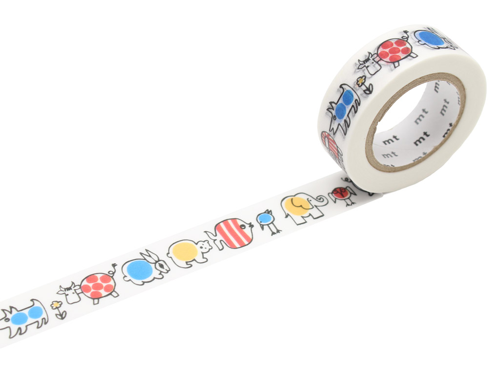 Washi dekoratyvi lipni juostelė mt Lisa Larson 15mmx10m Baby Mikey