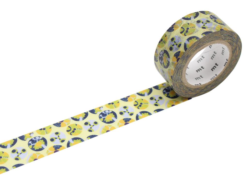 Washi dekoratyvi lipni juostelė mt Lisa Larson 20mmx10m Succulent
