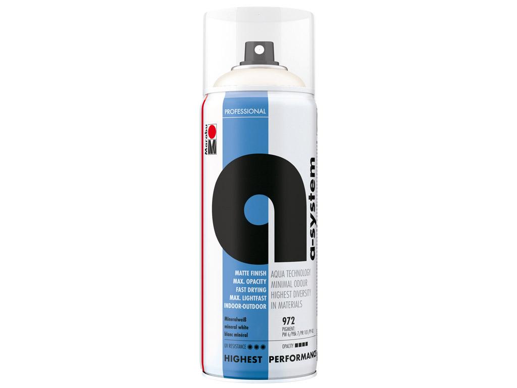 Krāsa aerosolā a-system 400ml 972 mineral white
