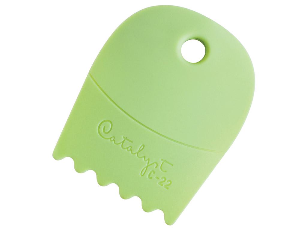 Värvikamm silikoonist Catalyst Contour C-22 green