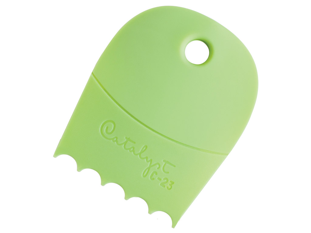 Värvikamm silikoonist Catalyst Contour C-23 green