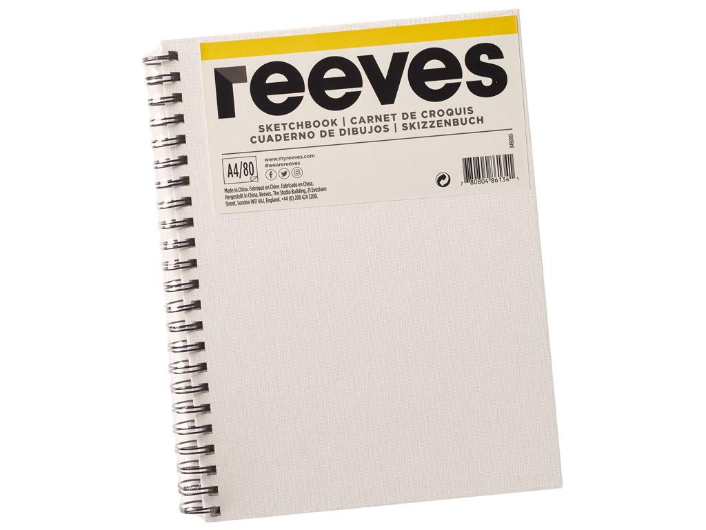 Eskiisiplokk Reeves lõuendiga kaaned A4/120g 80 lehte