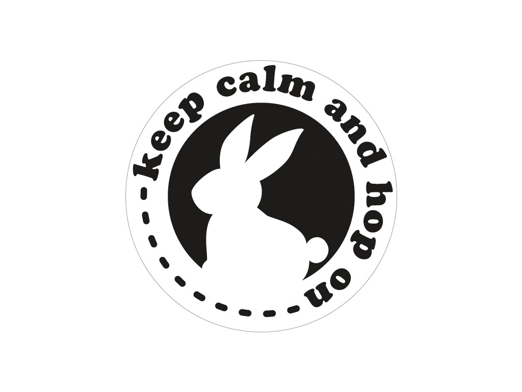 Tekstūras formas liešanas tehnikām Rayher d=45mm Keep calm and hop on