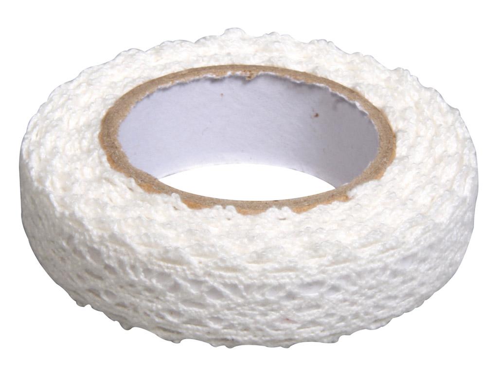 Audeklo juosta Rayher 17mmx2.5m edgings white