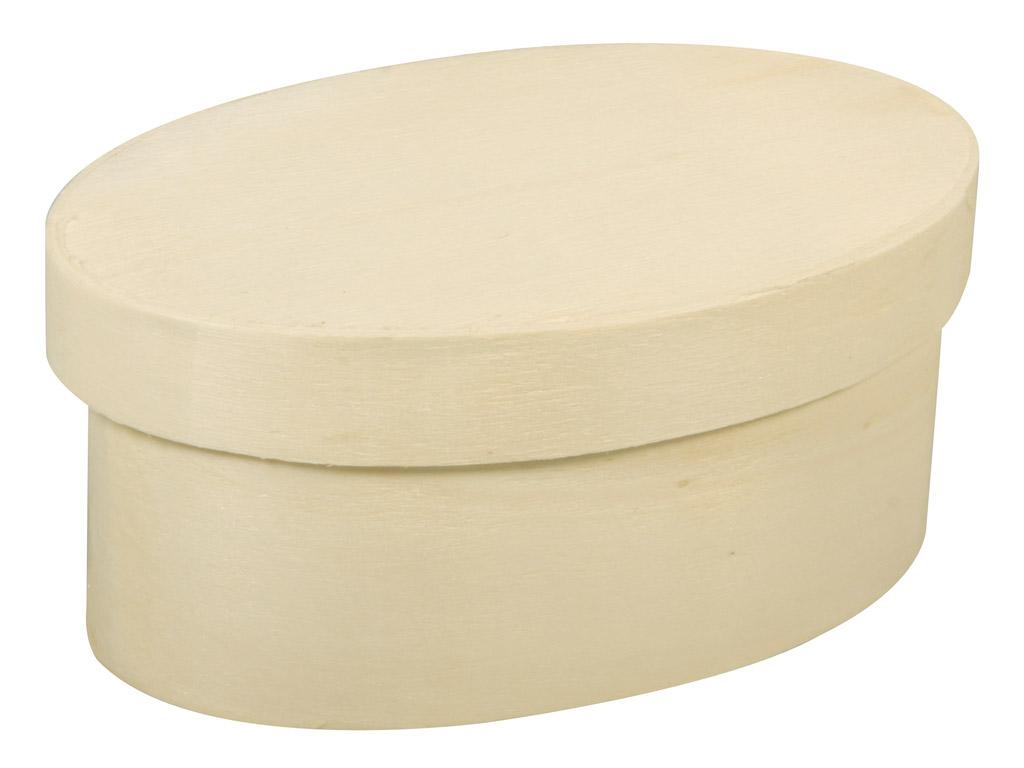 Medinė dėžutė Rayher ovali 9x5.5x4cm