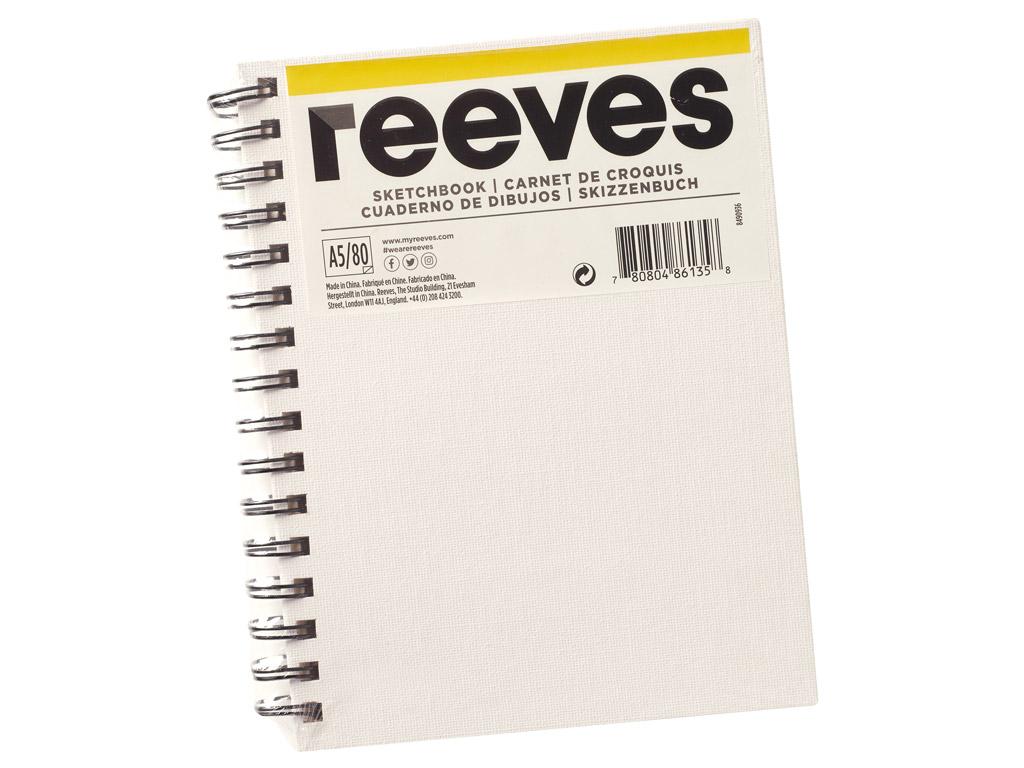 Eskiisiplokk Reeves lõuendiga kaaned A5/120g 80 lehte