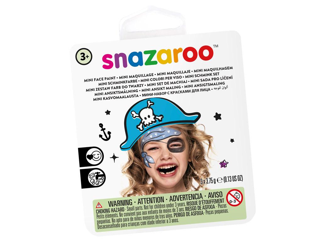 Näovärvide komplekt Snazaroo Mini 3 värvi+pintsel+svamm Blue Pirate