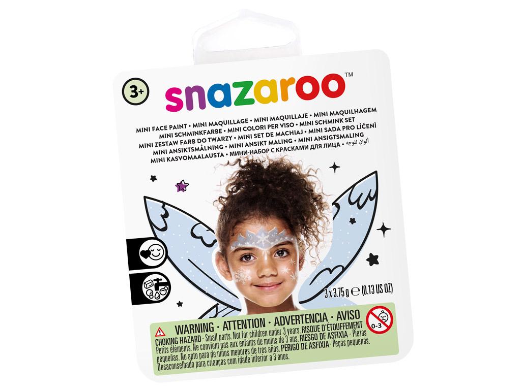 Sejas krāsu komplekts Snazaroo Mini 3 krāsas+ota+švamme Ice Fairy