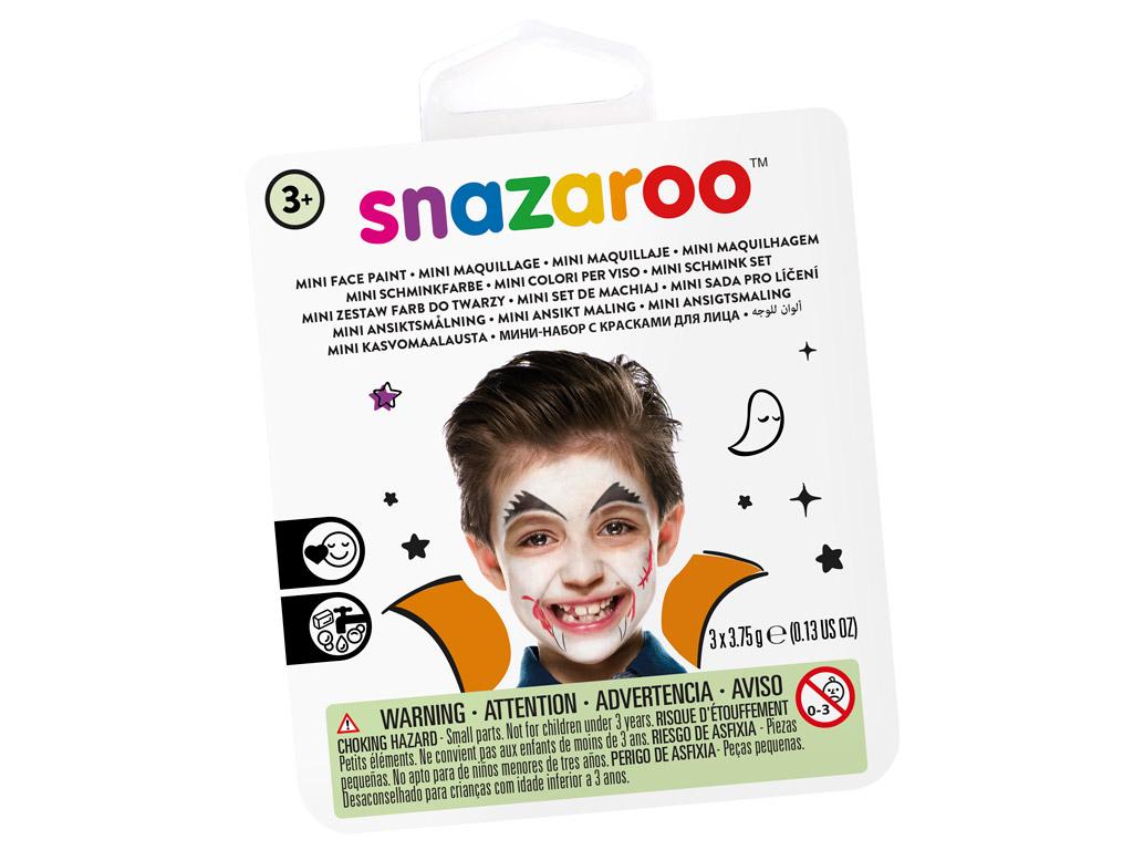 Sejas krāsu komplekts Snazaroo Mini 3 krāsas+ota+švamme Vampire