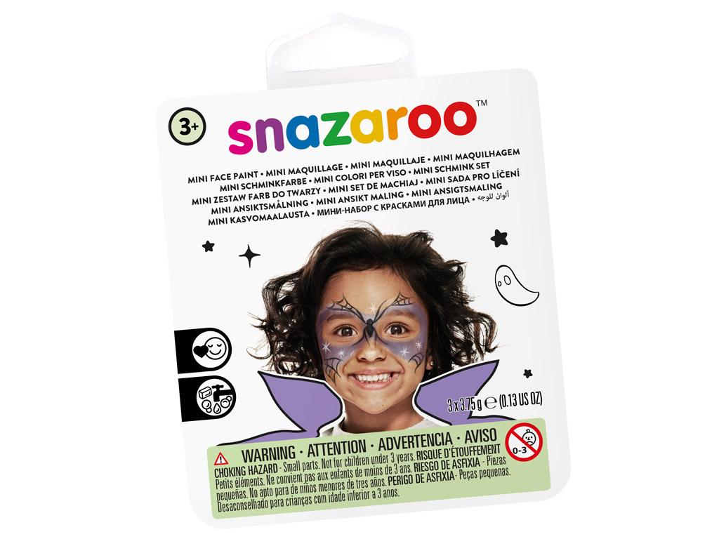 Sejas krāsu komplekts Snazaroo Mini 3 krāsas+ota+švamme Witch