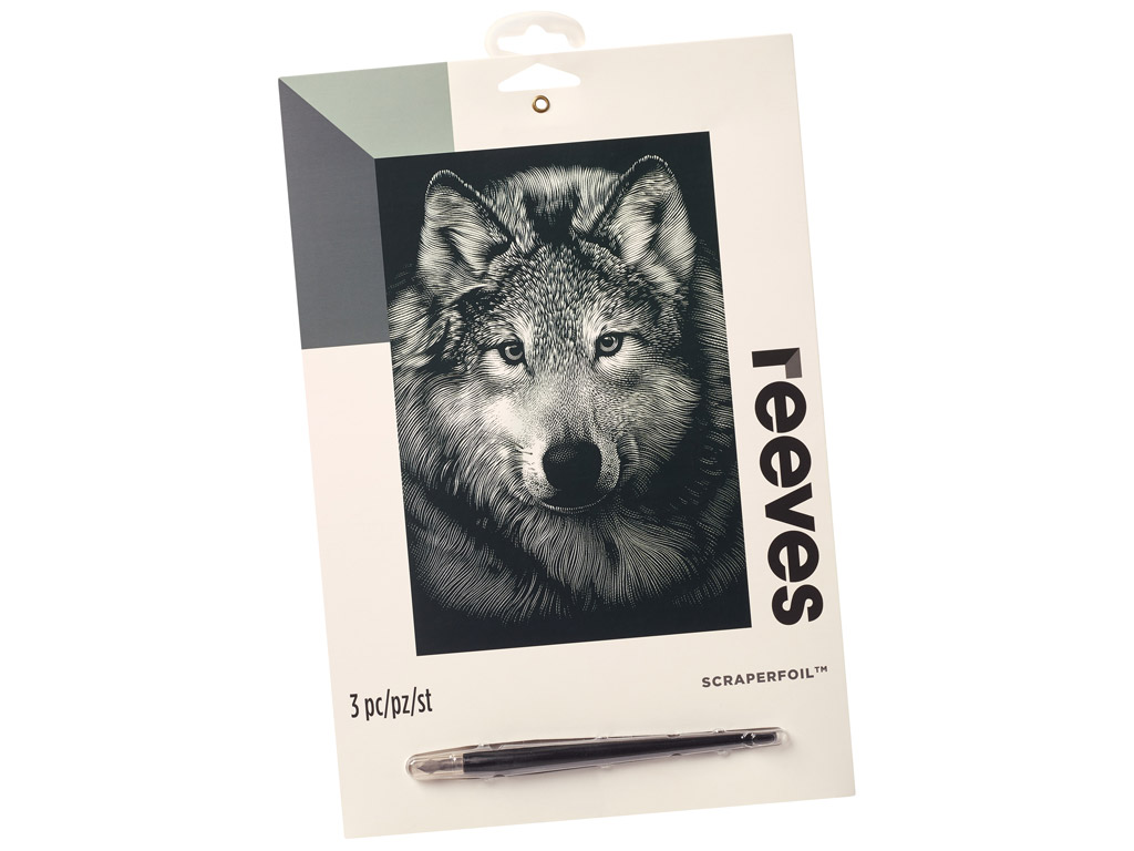 Scraperfoil Reeves 25x20cm Silver Wolf