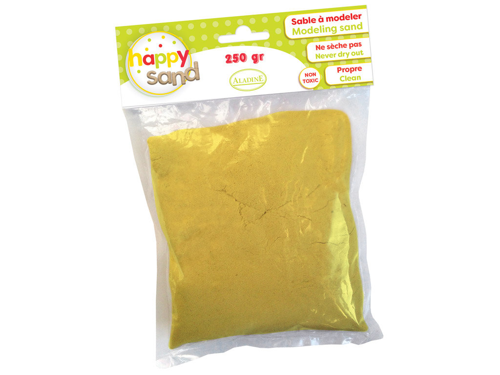 Modeling sand Aladine Happy Sand 250g yellow