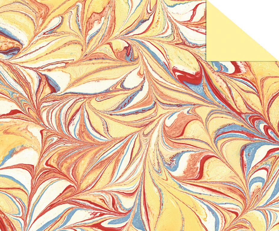 Kartons ar rakstu Ursus Art 49.5x68cm/220g dzeltena