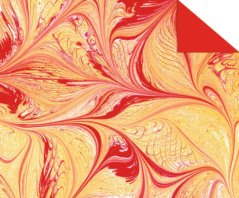Kartons ar rakstu Ursus Art 49.5x68cm/220g sarkana