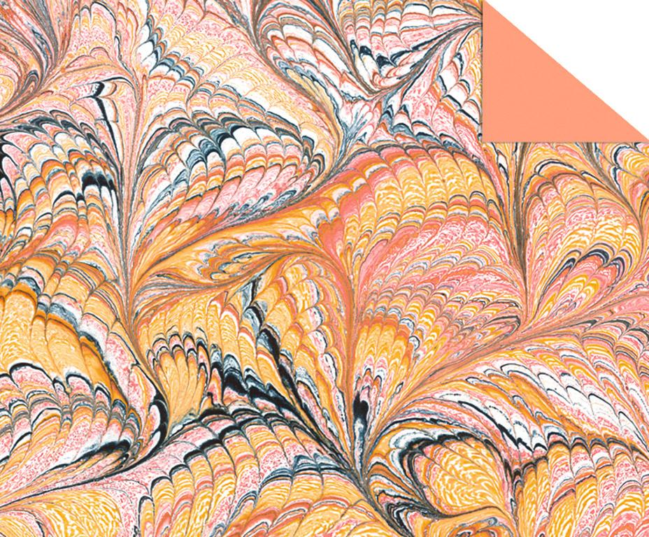 Kartons ar rakstu Ursus Art 49.5x68cm/220g oranža