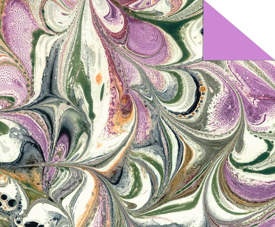 Kartons ar rakstu Ursus Art 49.5x68cm/220g violeta