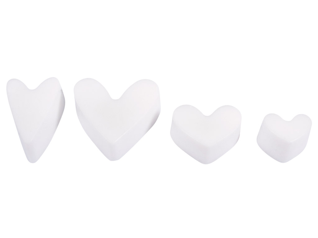 Seebivorm Rayher h=3cm süda 4 motiivi